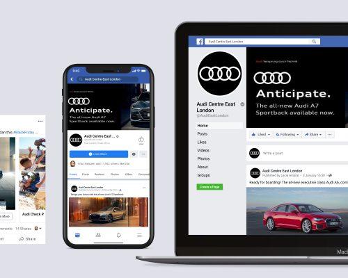 NTT Audi East London | Social Media Management
