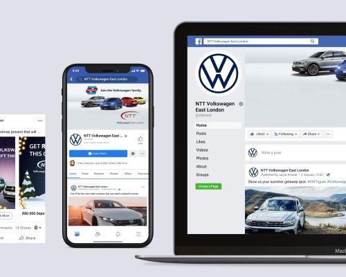 NTT VW East London | Social Media Management