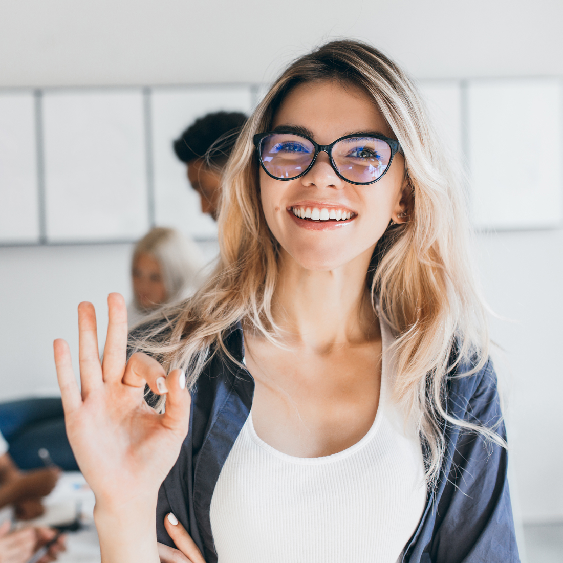 Business women giving the Magic Of A Marketing Mix: Best Practice Guide an a-okay